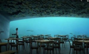 Europe's first underwater cafe